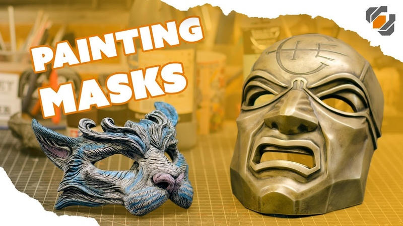 Painting Masks - Dishonored Overseer and Masquerade Cat