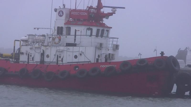 Керченская переправа туман А мосту до сраки туманы шторма