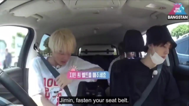 HES SUCH A FUCKING PARENT TELLING JIMIN TO PUT HIS SEATBELT ON I CANT dEAL