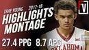 Trae Young Oklahoma Freshmen Season Highlights Montage 2017-18 | 27.4 PPG, 8.7 APG, Curry 2.0!