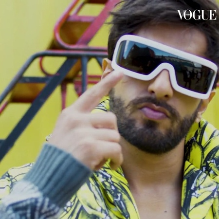 """VOGUE India on Instagram: """"For generation gender-neutral, the bright side is the right side. Catch Ranveer Singh (@ranveersingh) on the digital cov"""