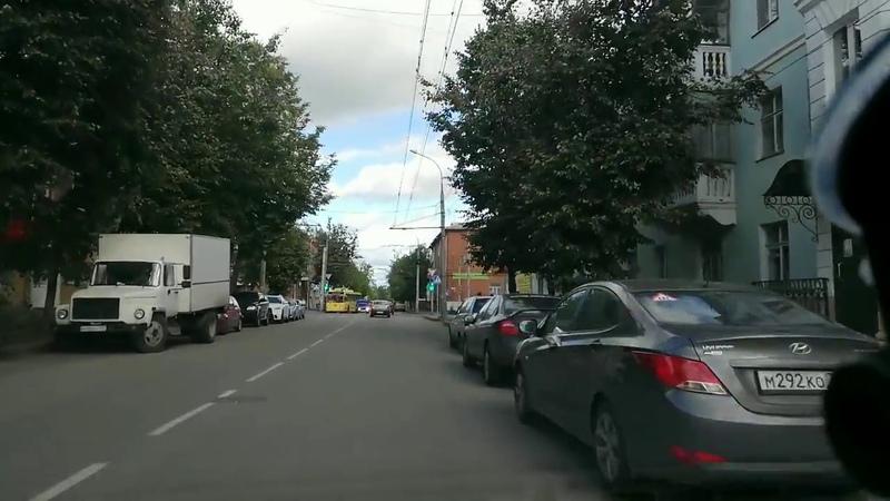 Поворот налево с ул.Пушкина на ул.Герцена