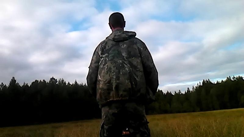 По болоту на 1-гусеничном буксе «Мужик»