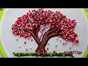 Sakura: Japanese Cherry Blossom Tree Embroidery  Arbol de cerezo bordado a mano Artesd'Olga