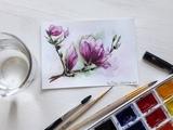Spring mood magnolia sketch Julia fine art