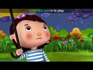 Lets Learn  Rain Rain Go Away ! With LittleBabyBum!