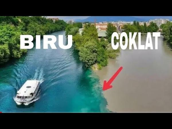 AIR SUNGAI TAK BISA BERSATU sungai arve swiss