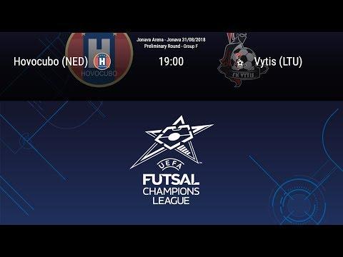 LIVE - Hovocubo (NED) v Vytis (LTU) - Preliminary round - Group F - Futsal Champions League