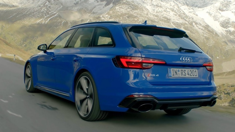 The new Audi RS4 2018 in Nogaro blue / 450HP