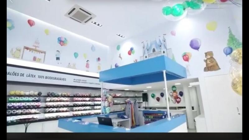 Идеальный магазин воздушных шаров в Бразилии