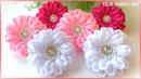 Канзаши Цветы из репсовой ленты МК DIY Kanzashi Grosgrain Ribbon Flower Flor de Fita Ola ameS DIY