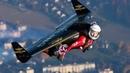Завораживающее зрелище полёта на ранце - крыле Прикольное видео