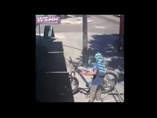 Bicycle thief gets what he deserves