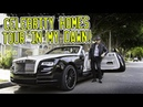 Celebrity homes tour around Beverly Hills in a Rolls Royce Dawn!