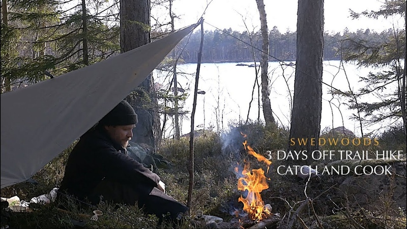 3 Days Bushcraft Solo Overnight - Catch And Cook Spit Roast Salmon - Off Trail Hike