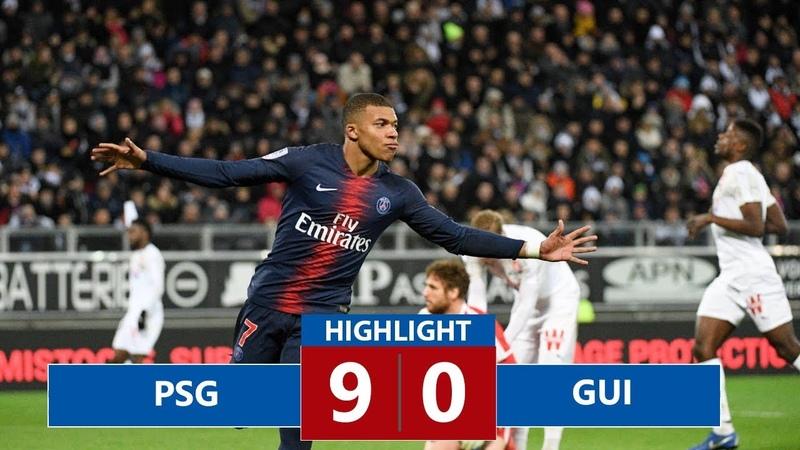 PSG vs Guingamp 9-0 highlights All Goals (19/01/2019)