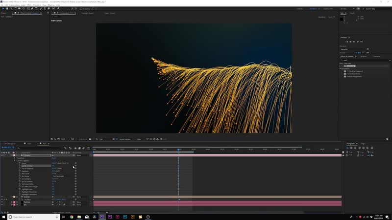 Create Cinematic Particles Titles _ After Effects Tutorial