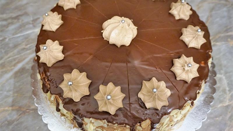 Шоколадный торт шоколад на кипятке/Chocolate Cake with creamy chocolate cream
