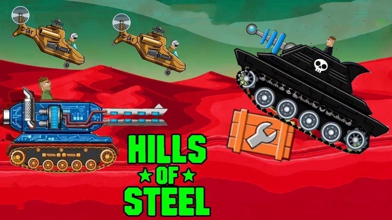 Hills of steel MAMMOTH Tank vs All boss level - Games bii