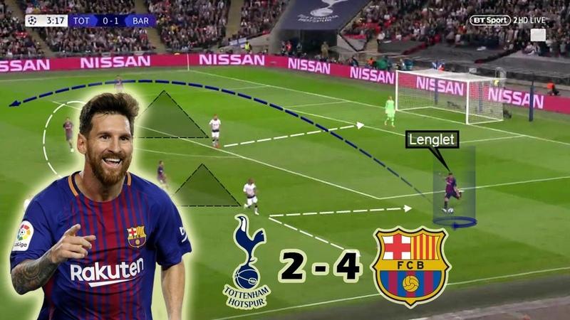 Messi Steals the Show at Wembley Tottenham vs Barcelona 2 4 Tactical Analysis