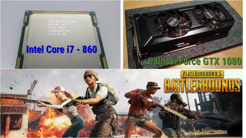 Тест системы Intel i7-860 Palit GeForce 1080 - ПАБГ - Playerunknown's Battlegrounds - PUBG