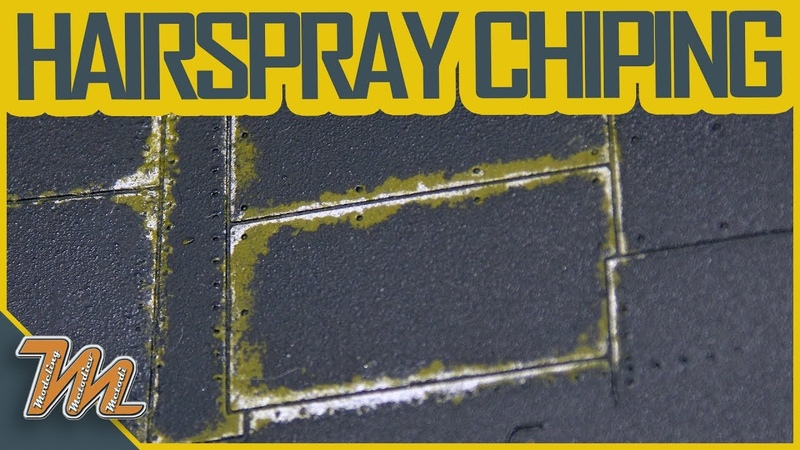 Hairspray chipping - scale model weathering tutorial