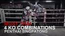 Muay Thai Penthai Singpatong's 4 KO Combinations Evolve University
