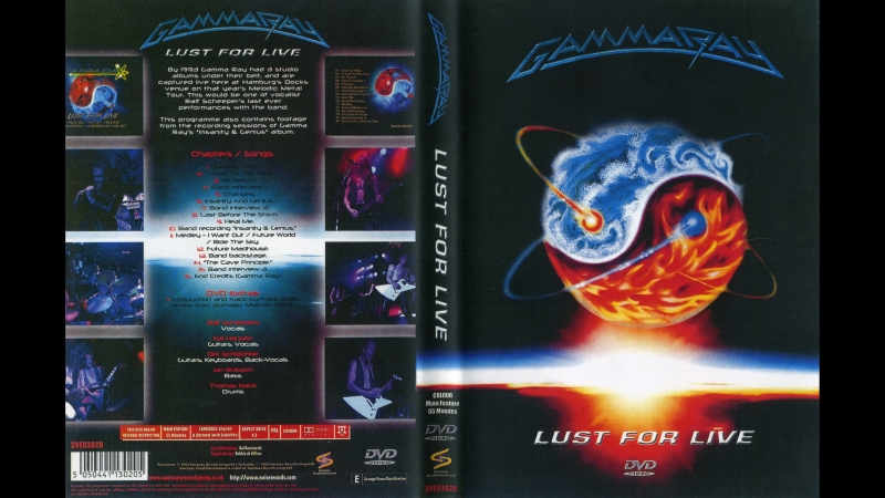 Gamma Ray - Lust For Live (DVD) FULL