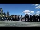 Торжественный марш выпускников Михайловской Военной Артиллерийской Академии - 23 июня 2018 года. Площадь Ленина, Санкт-Петербург