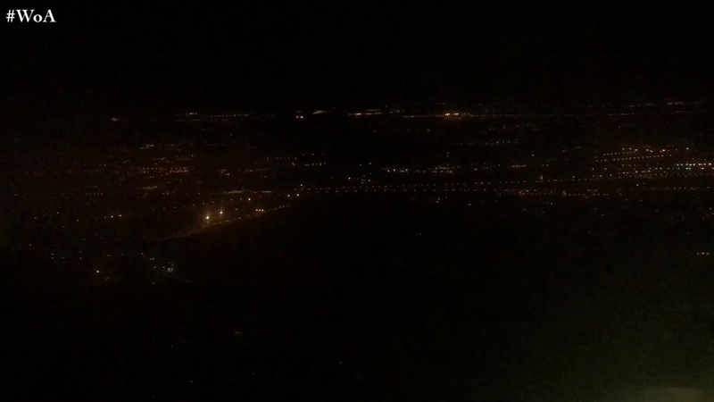 Airbus A319 S7 Airlines NIGHT Approach SMOOTH Landing at Moscow Domodedovo Airport