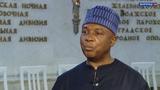 Моё первое смонтированное для ТВ видео - Абубакар Сараки, председатель Сената национальной Ассамблеи Федеративной Республики Нигерия