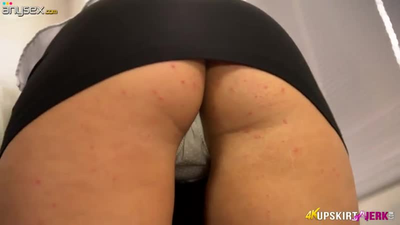 Sexy blonde_shows upskirt in the office . . .
