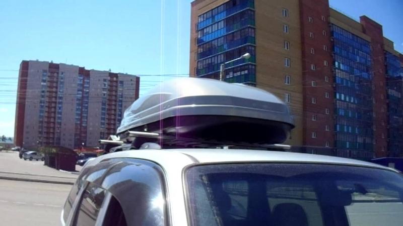 Mazda Tribute бокс Lux Viking серый глянец багажная система Lux аэроклассик