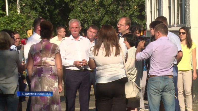 Губернатор Морозов инспектирует ремонт соцсферы в Димитровграде