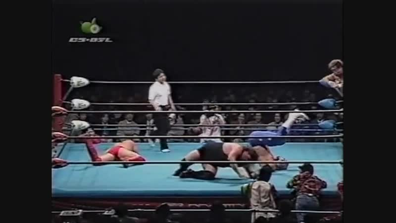 1997.01.17 - The Lacrosse/Jun Izumida vs. Gary Albright/Maunakea Mossman