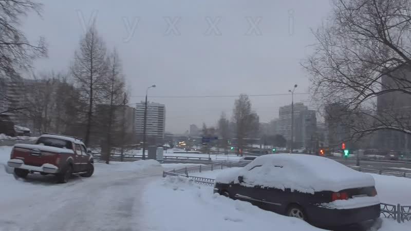 Псв 42 Пешеходный мост через Рублевское шоссе в Москве улица Крылатская экскурсия ЗИМОЙ ДНЕМ