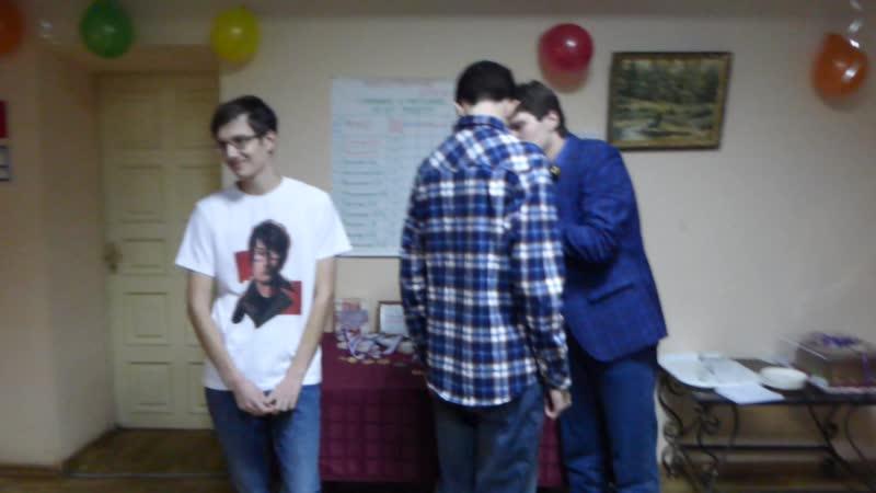 Награждение Алексея Уколова