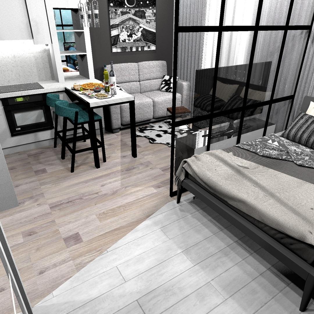 Проект квартиры-студии 23,8 кв/м.