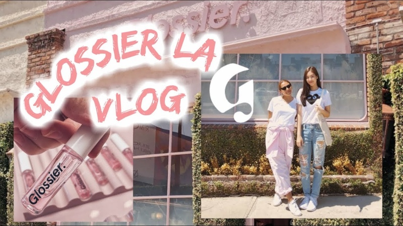 Touring the NEW Glossier LA! 😍 Review | GLOSSIER VLOG