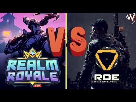 ✅Королевская Битва: REALM ROYALE vs RING OF ELYSIUM. W1XXIQ and EKBplay.