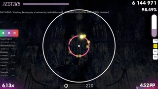 [317BPM] Zestiny | cosMo@bousouP - FREEDOM DiVE [Another] +DT 91.78% {580pp 2xSB} - osu!