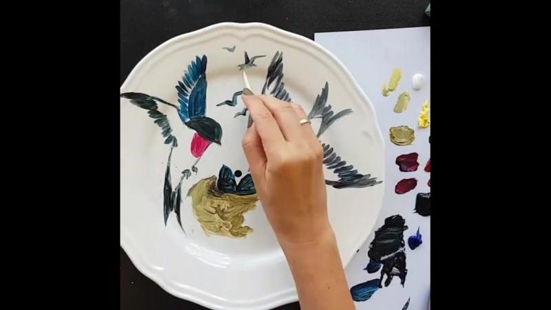 Роспись тарелки от estriada_artworks