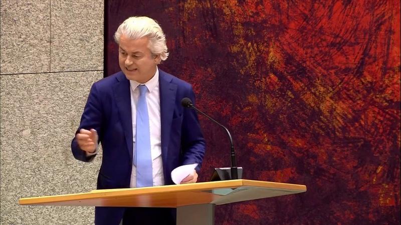 Geert Wilders Rutte is de voltooid verleden tijd - Debat afschaffing Dividendbelasting