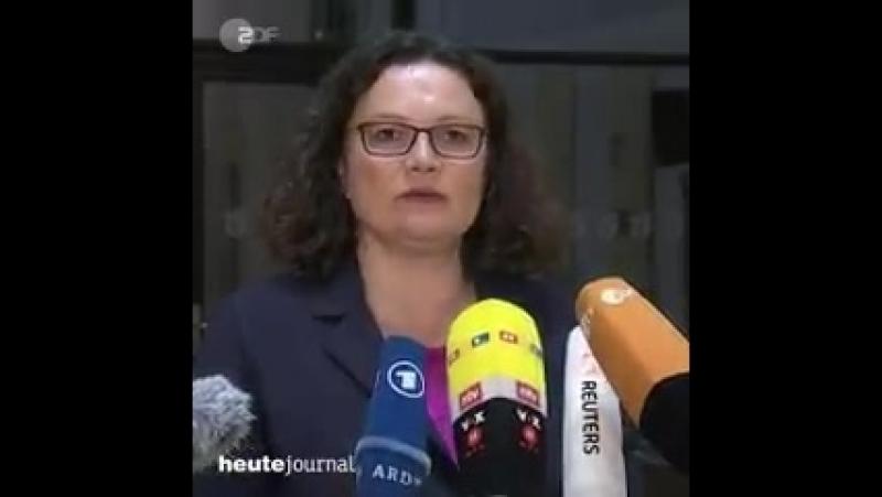 Einigung im Fall Maaßen SPD Chefin Nahles zeigt sich erleichtert über die Lösung