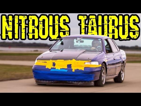 FAST Ford Taurus - Nitrous V6!