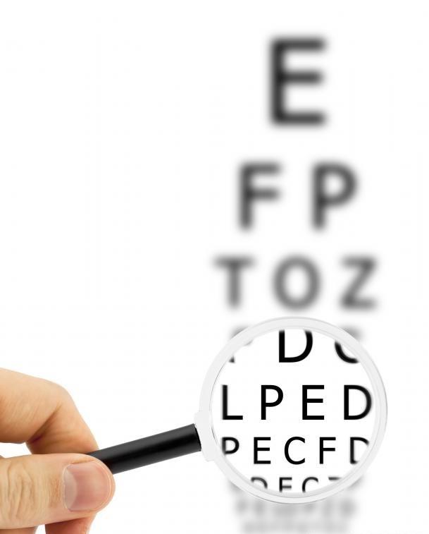 Обычное обследование глаз требует от пациента читать буквы с графика.