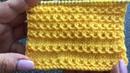 Простой узор спицами со снятыми петлями Узор Цепочки