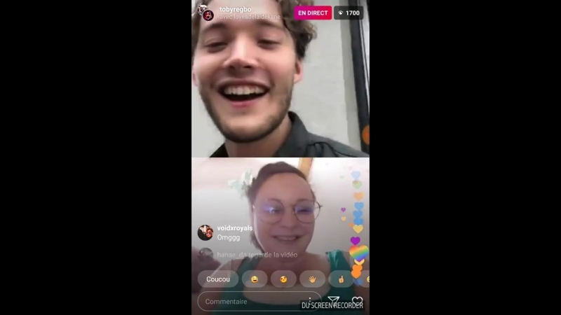 Toby Regbo Live (speaking in french)