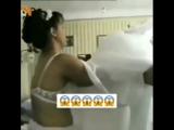 Молодая азербайджанка примеряет свое свадебное платье. Азербайджан Azerbaijan Azerbaycan БАКУ BAKU BAKI Карабах 2018 HD +18 Sex