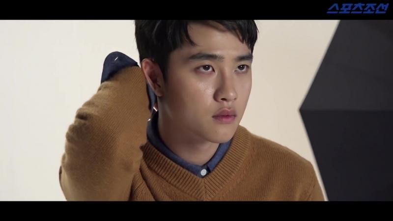 181012 EXO DO Kyungsoo @ HIGHCUT Photoshoot Behind The Scenes
